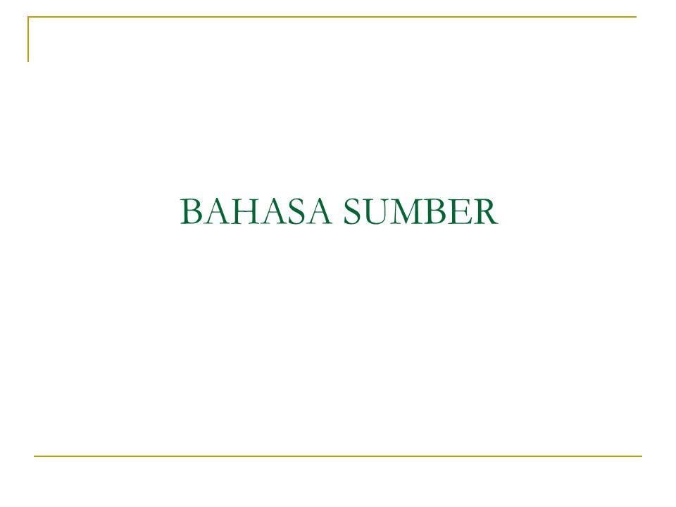 BAHASA SUMBER
