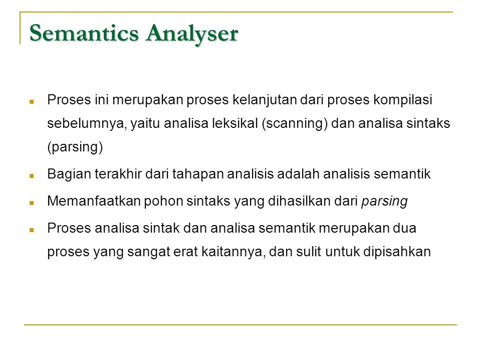Semantics Analyser