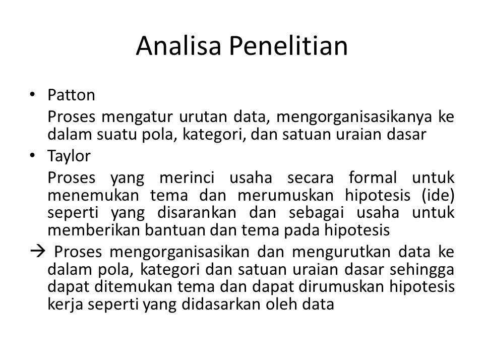 Analisa Penelitian Patton