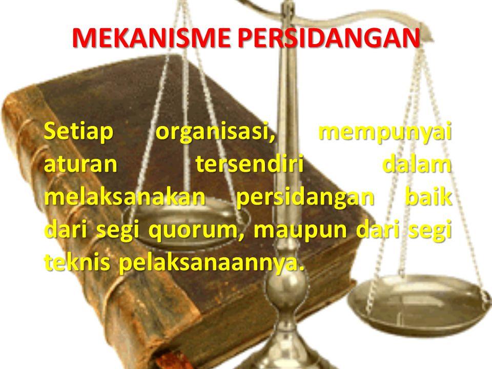 MEKANISME PERSIDANGAN