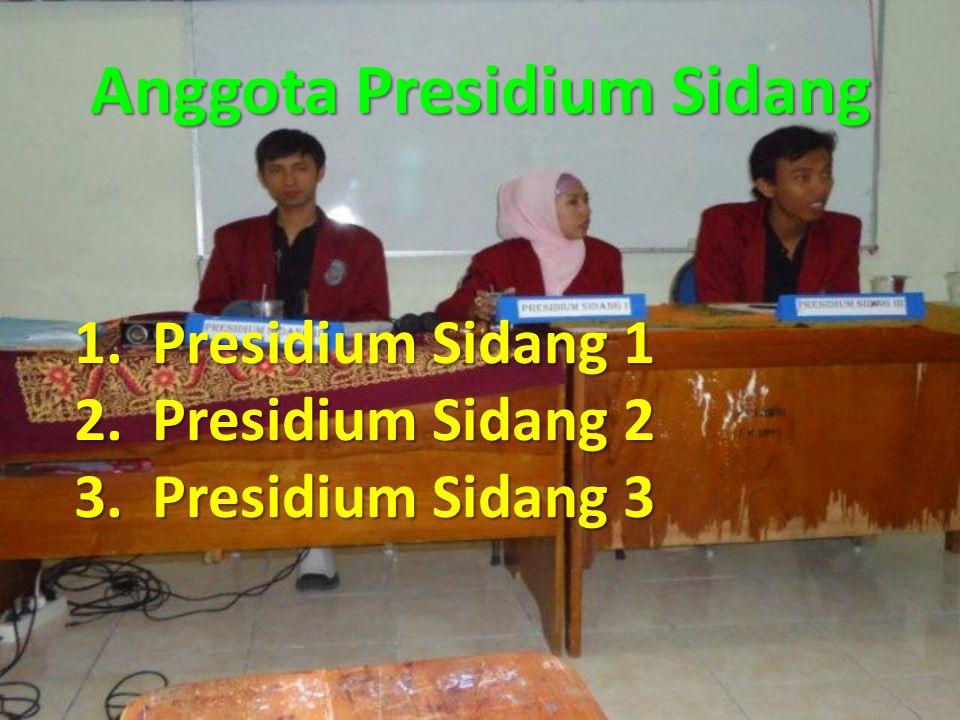 Anggota Presidium Sidang
