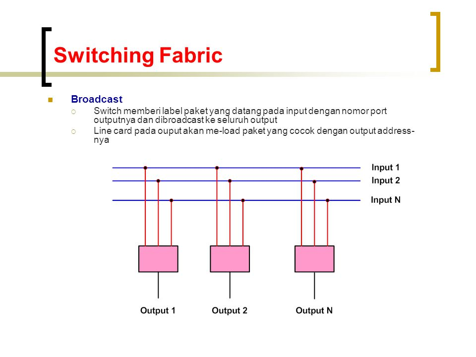 Switching Fabric Broadcast