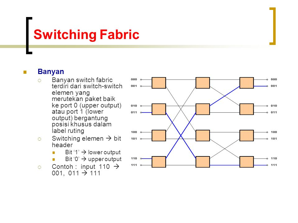 Switching Fabric Banyan
