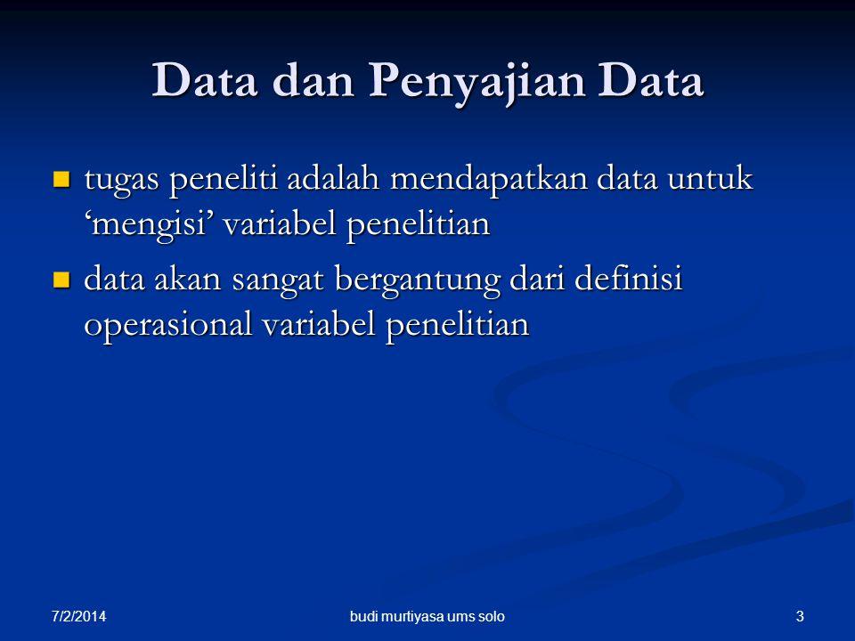 Data dan Penyajian Data