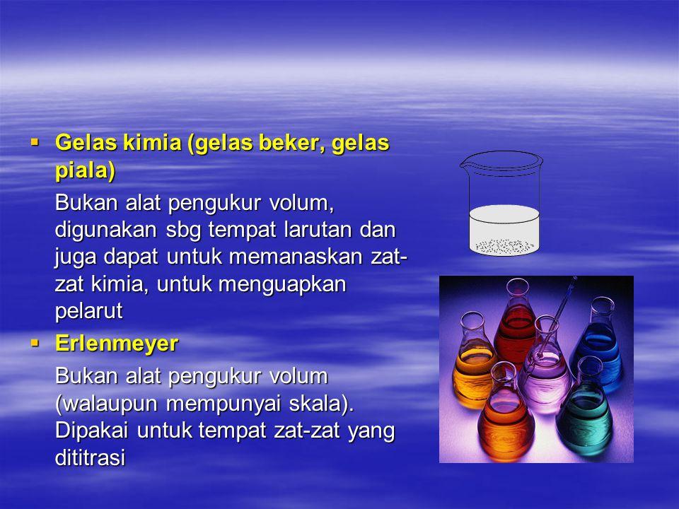 Gelas kimia (gelas beker, gelas piala)