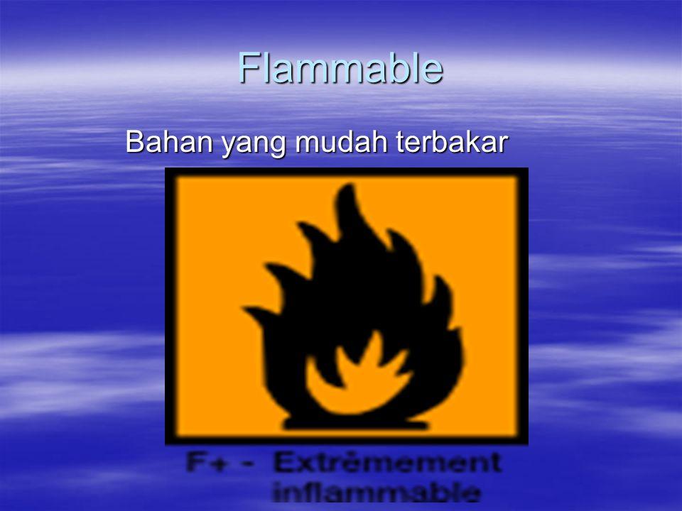 Flammable Bahan yang mudah terbakar