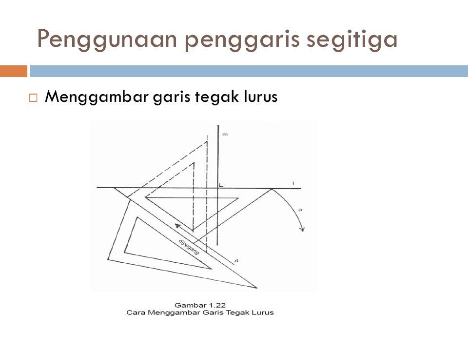 Penggunaan penggaris segitiga