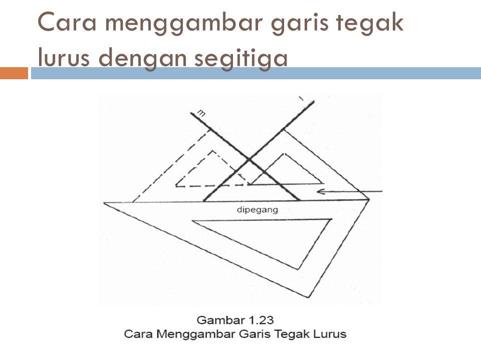 Cara menggambar garis tegak lurus dengan segitiga
