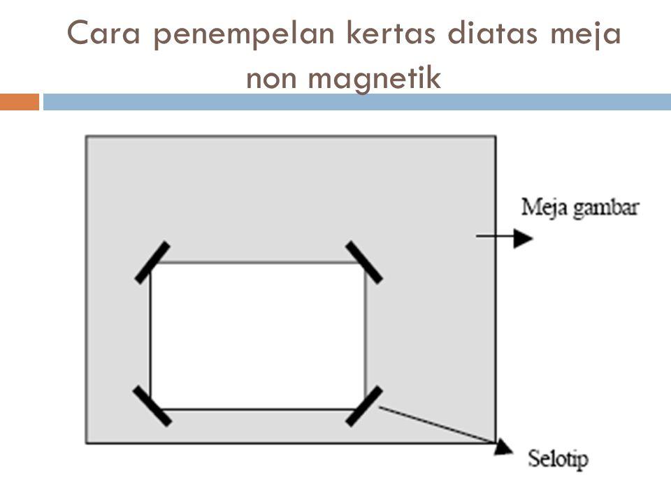 Cara penempelan kertas diatas meja non magnetik