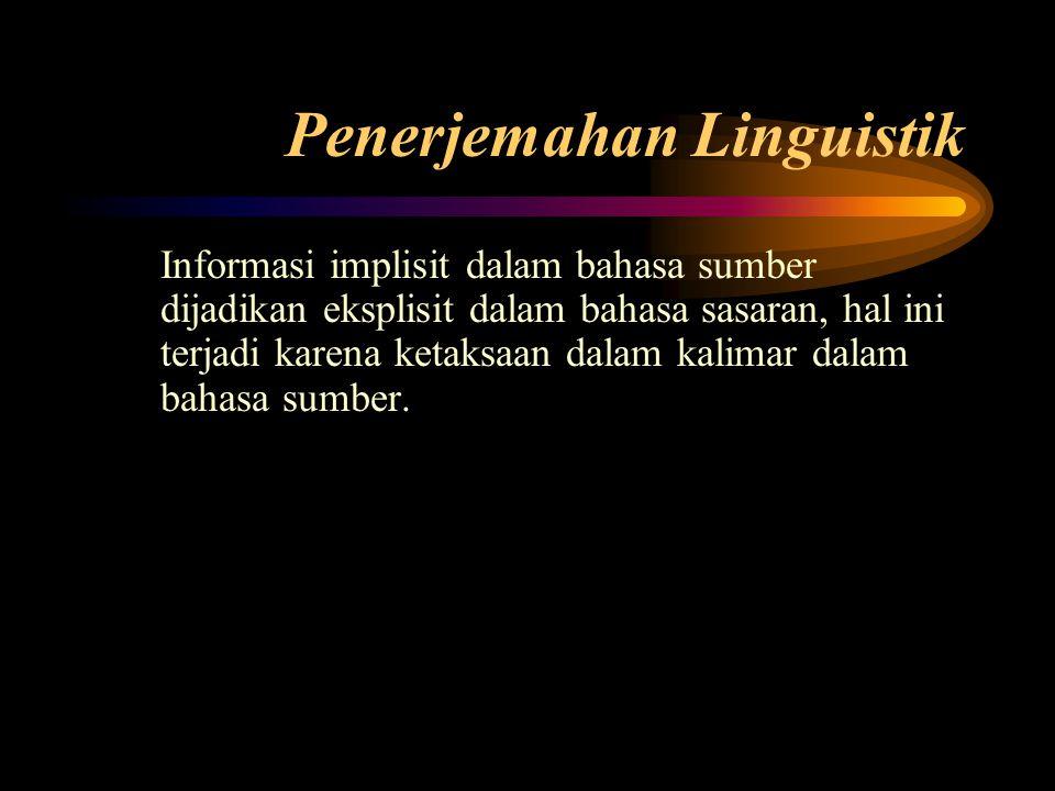 Penerjemahan Linguistik