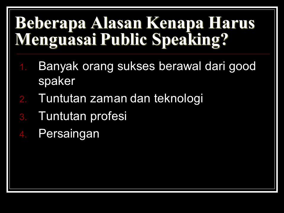 Beberapa Alasan Kenapa Harus Menguasai Public Speaking