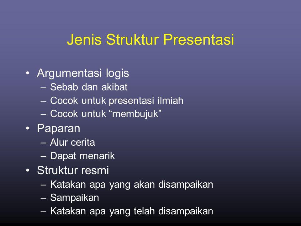 Jenis Struktur Presentasi
