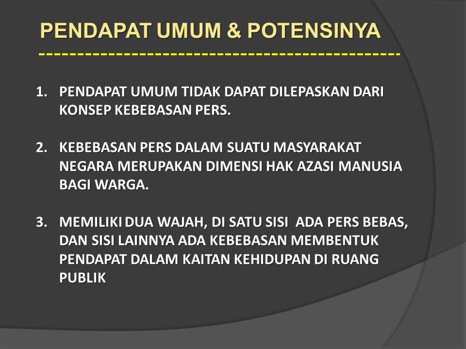 PENDAPAT UMUM & POTENSINYA