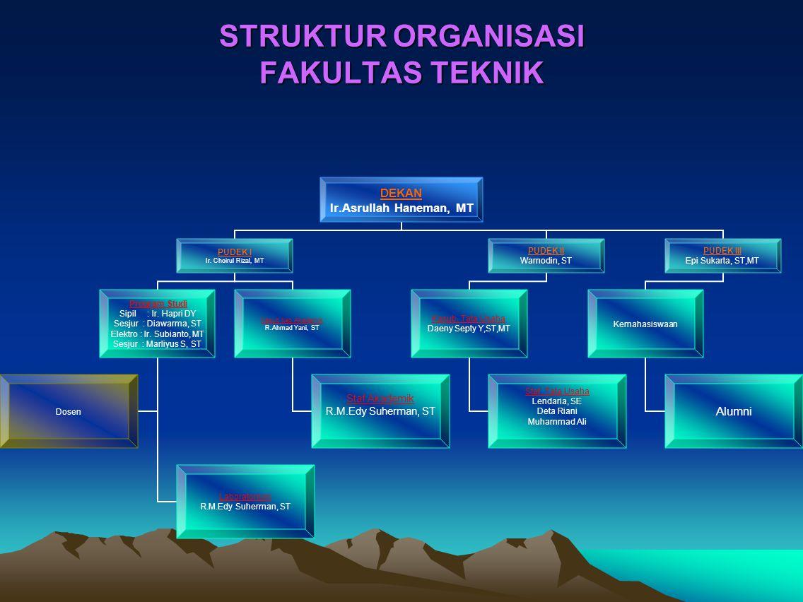 STRUKTUR ORGANISASI FAKULTAS TEKNIK