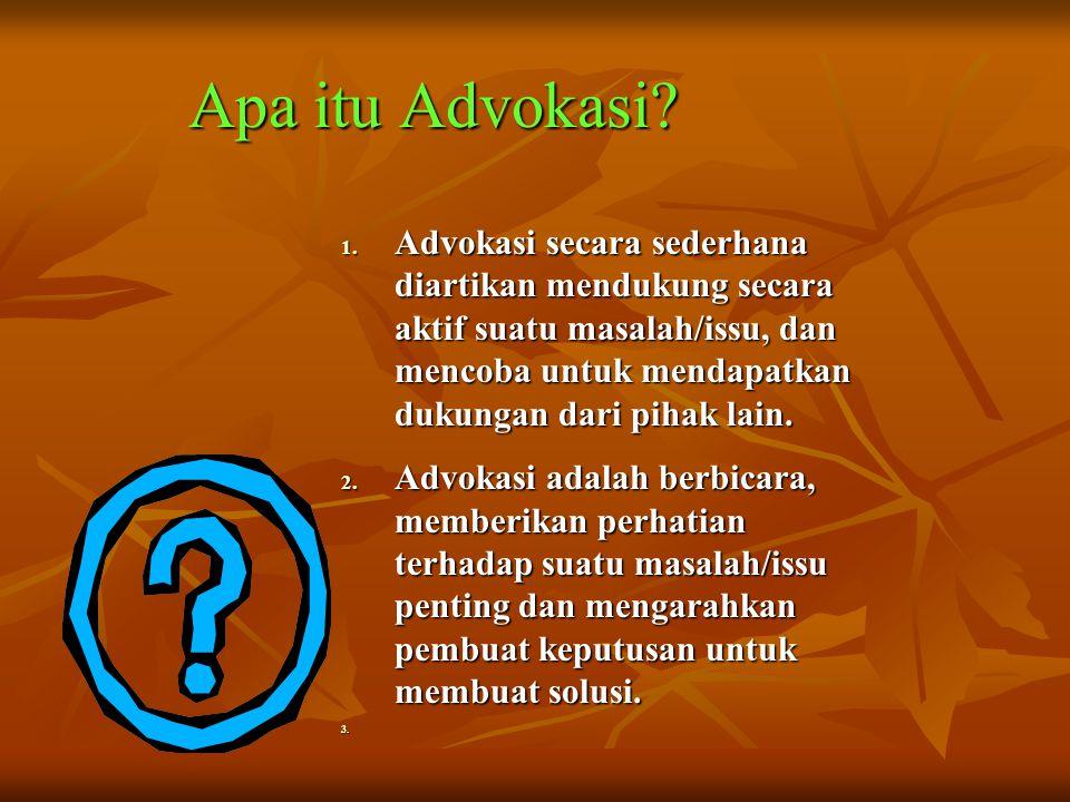 Apa itu Advokasi