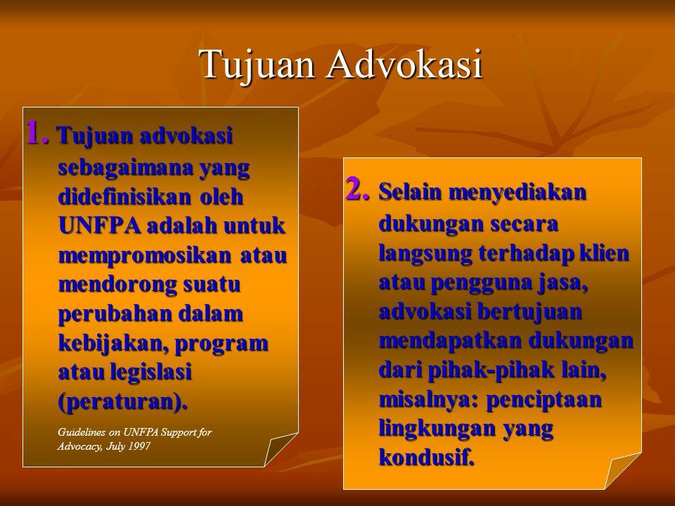 Tujuan Advokasi