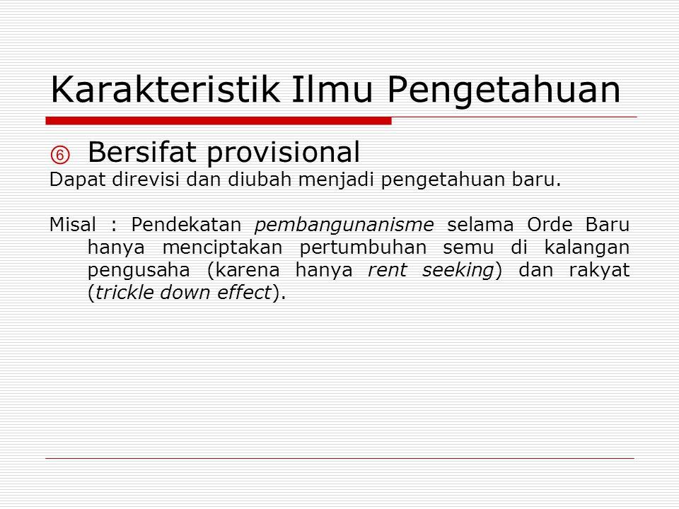 Karakteristik Ilmu Pengetahuan