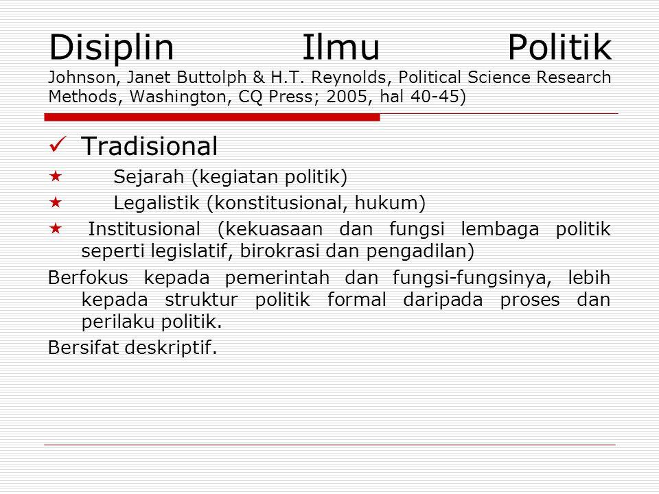 Disiplin Ilmu Politik Johnson, Janet Buttolph & H. T