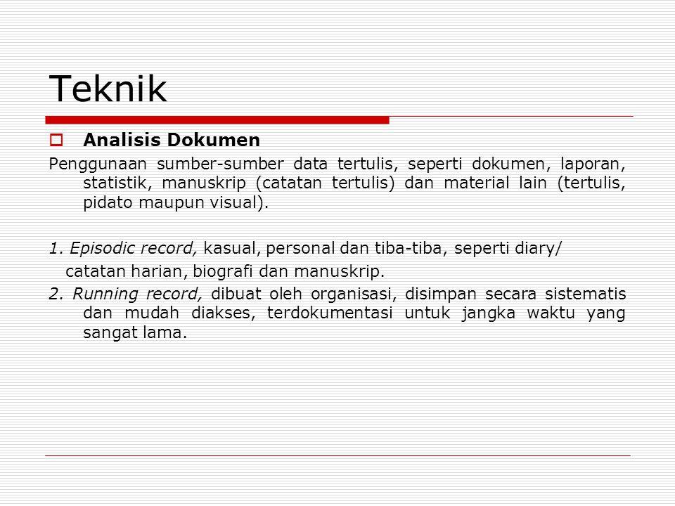 Teknik Analisis Dokumen