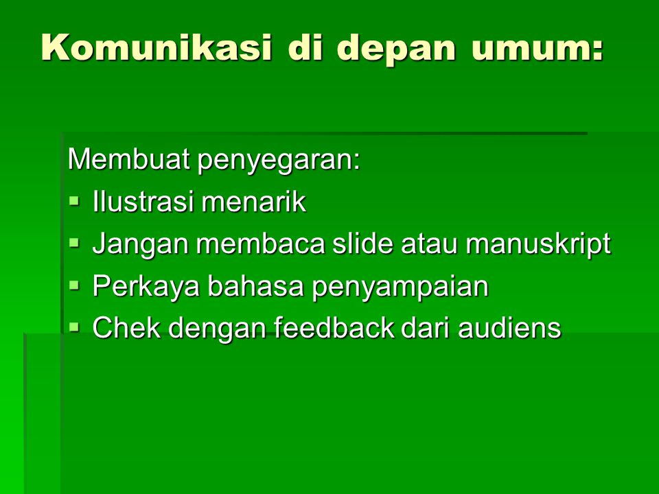 Komunikasi di depan umum: