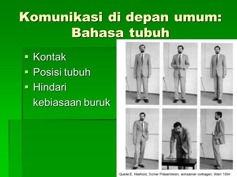 Komunikasi di depan umum: Bahasa tubuh