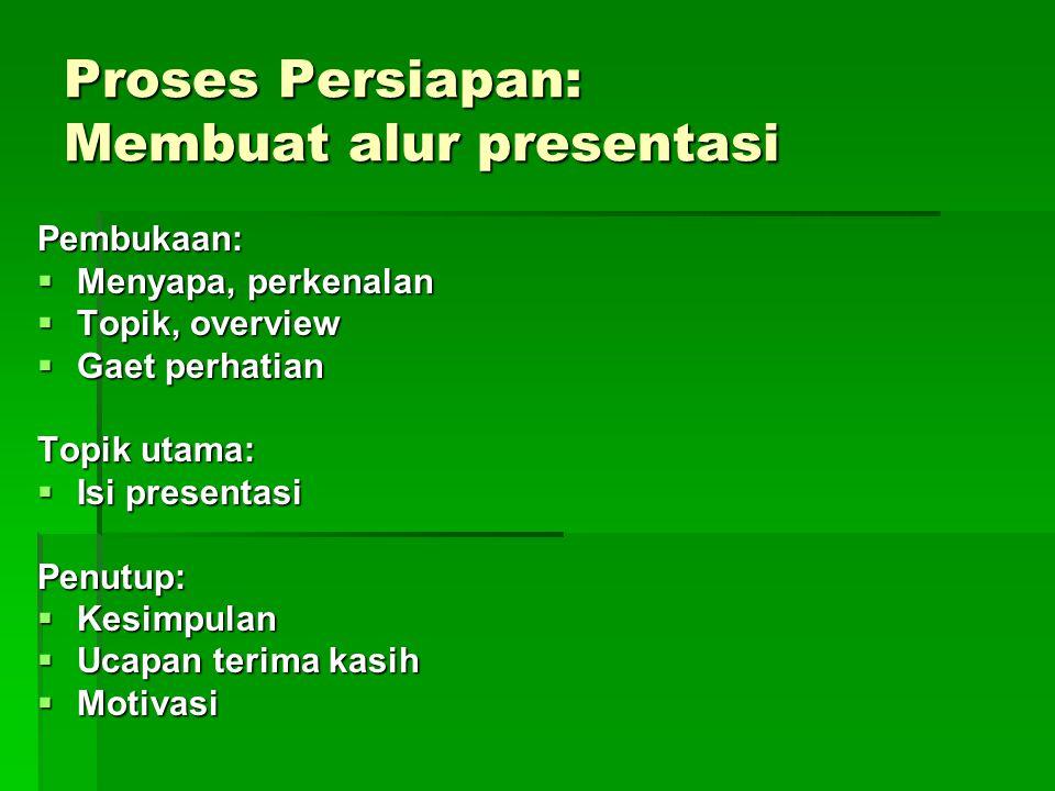 Proses Persiapan: Membuat alur presentasi