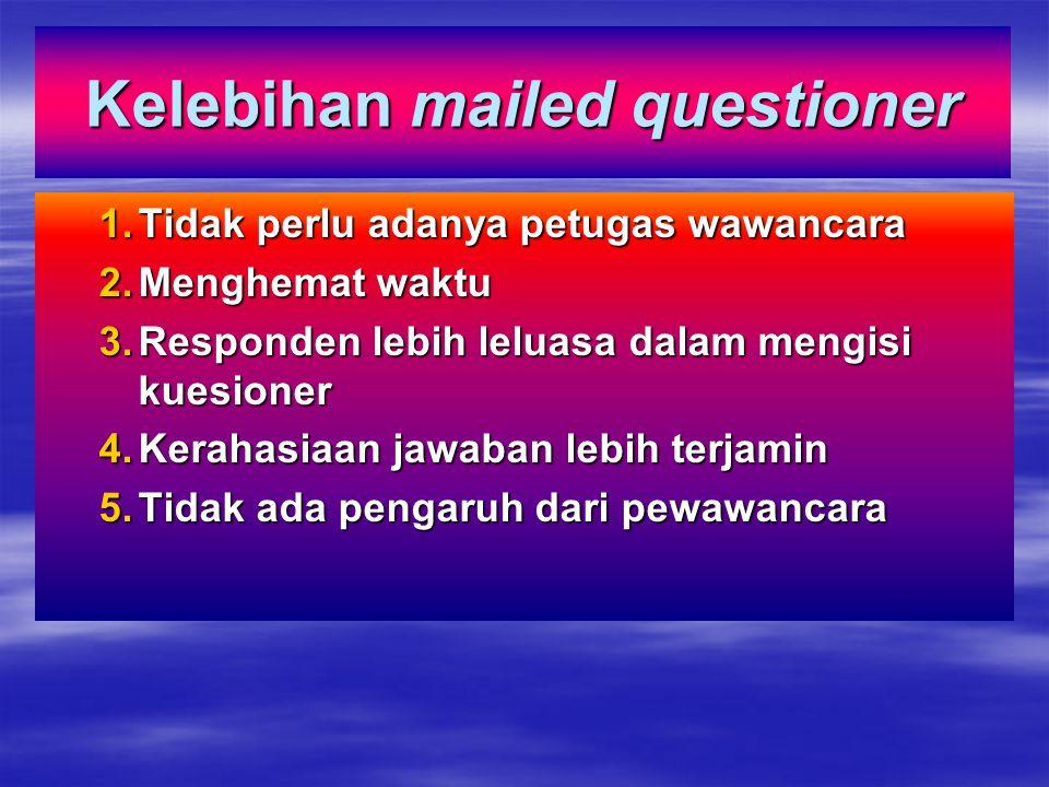 Kelebihan mailed questioner