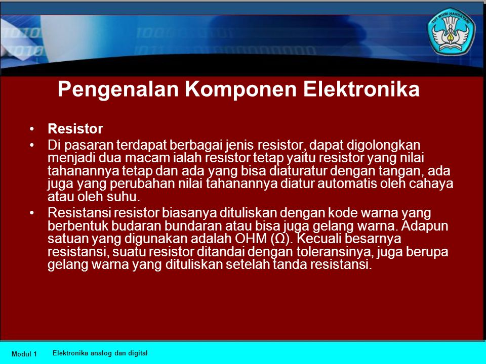 Pengenalan Komponen Elektronika