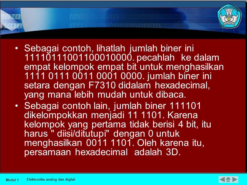 Sebagai contoh, lihatlah jumlah biner ini 11110111001100010000