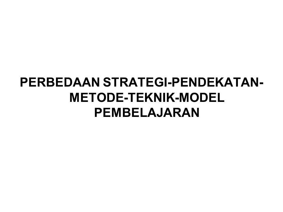 PERBEDAAN STRATEGI-PENDEKATAN-METODE-TEKNIK-MODEL PEMBELAJARAN