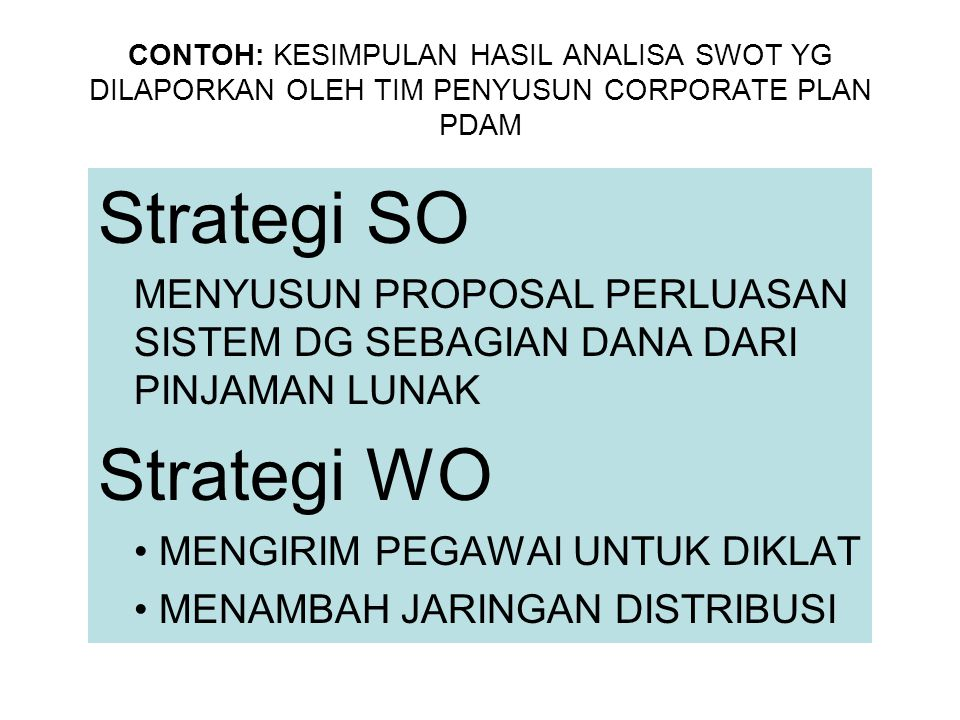 Strategi SO Strategi WO