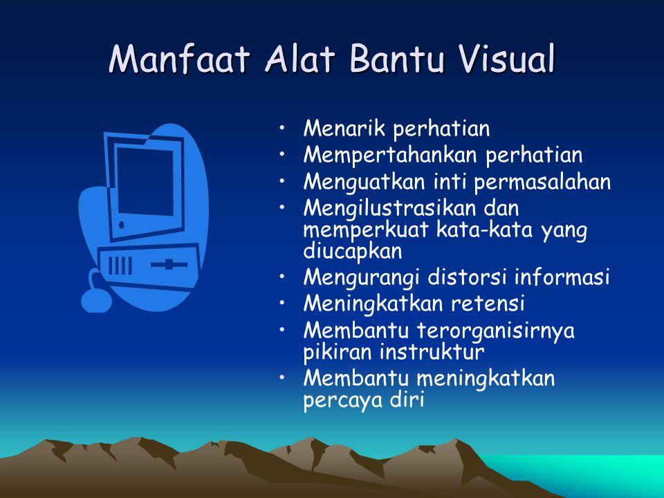 Manfaat Alat Bantu Visual