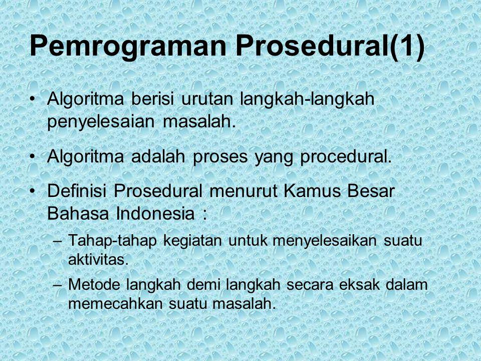 Pemrograman Prosedural(1)