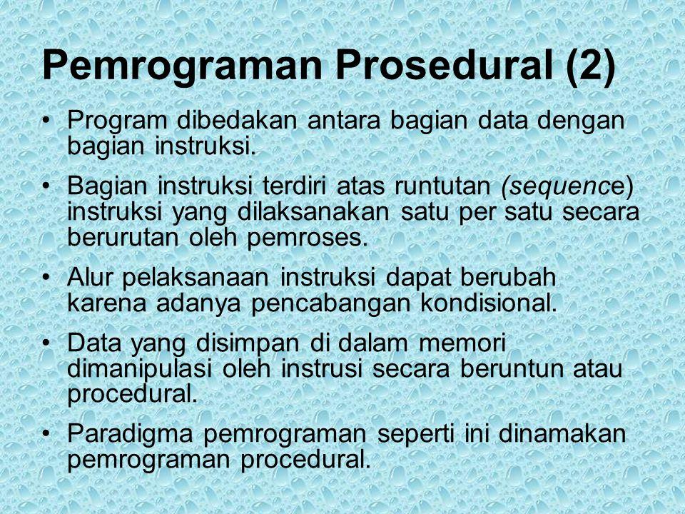 Pemrograman Prosedural (2)
