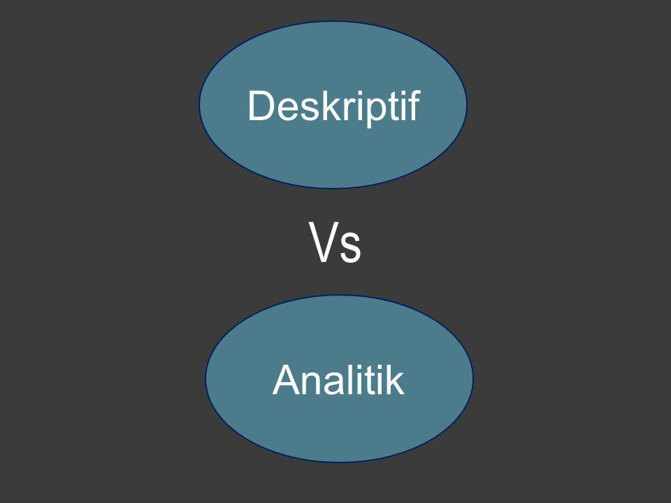 Deskriptif Vs Analitik