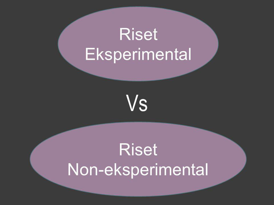 Riset Non-eksperimental