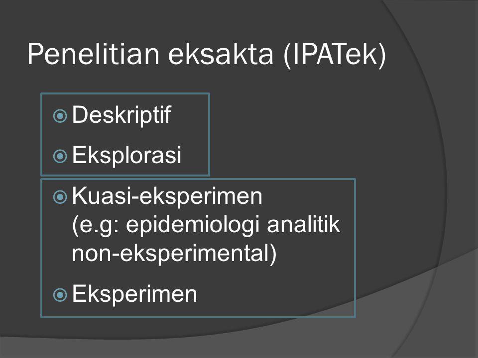 Penelitian eksakta (IPATek)