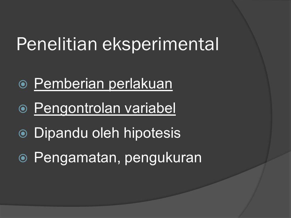Penelitian eksperimental