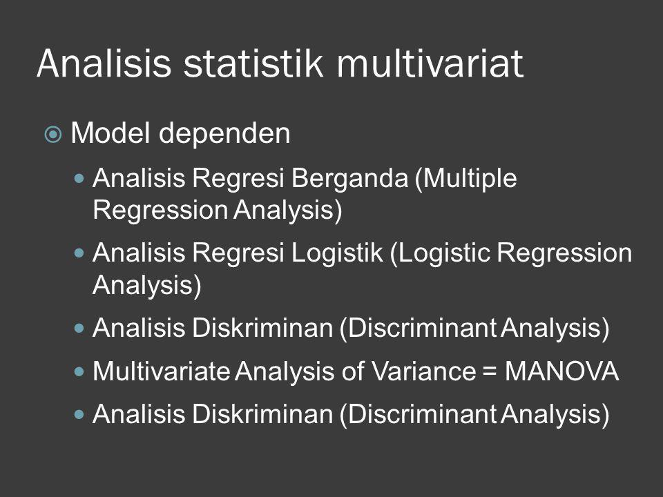 Analisis statistik multivariat