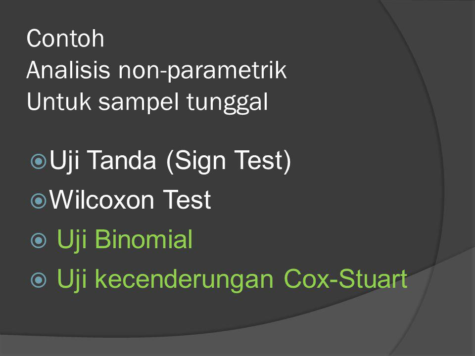 Contoh Analisis non-parametrik Untuk sampel tunggal