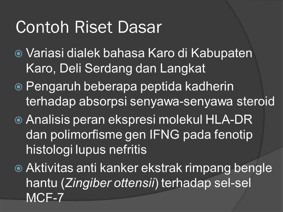 Contoh Riset Dasar Variasi dialek bahasa Karo di Kabupaten Karo, Deli Serdang dan Langkat.