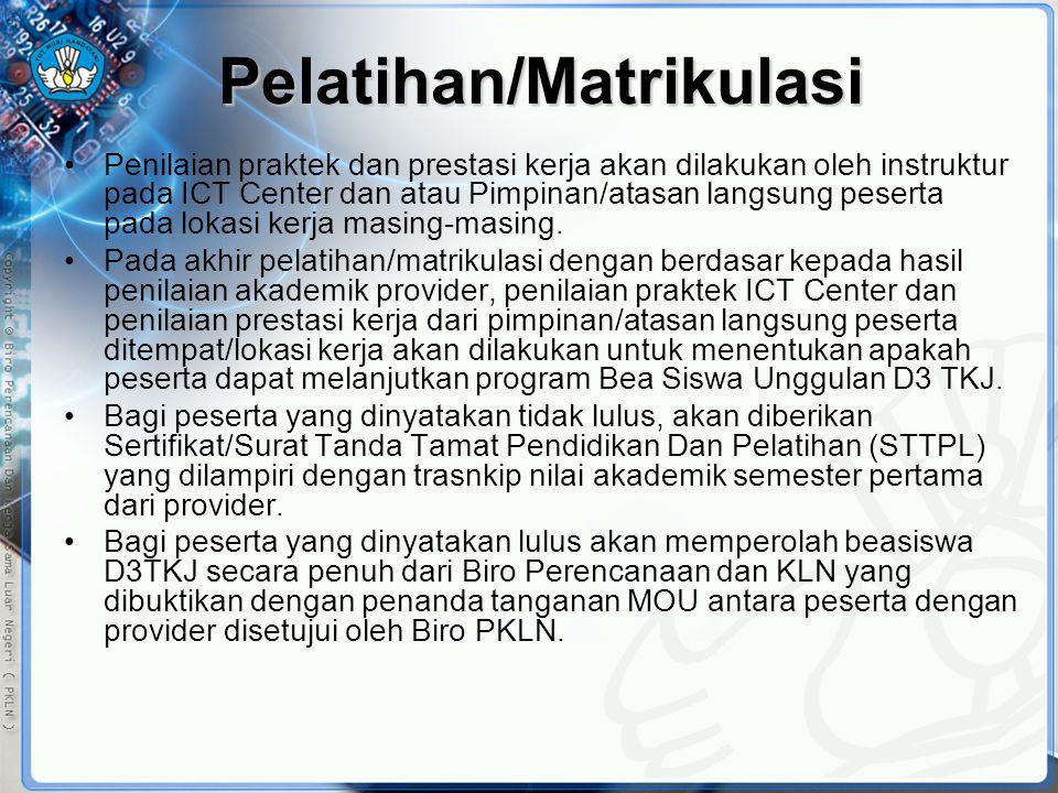 Pelatihan/Matrikulasi