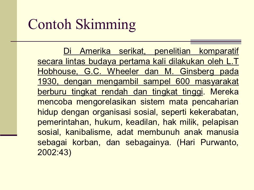 Contoh Skimming