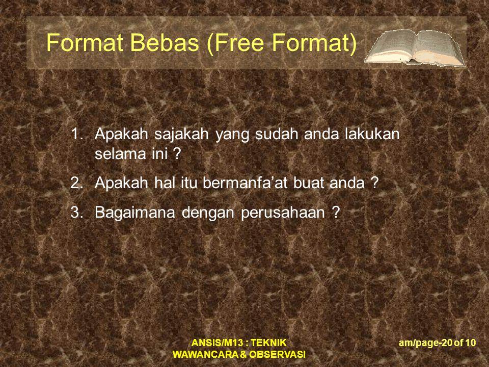 Format Bebas (Free Format)