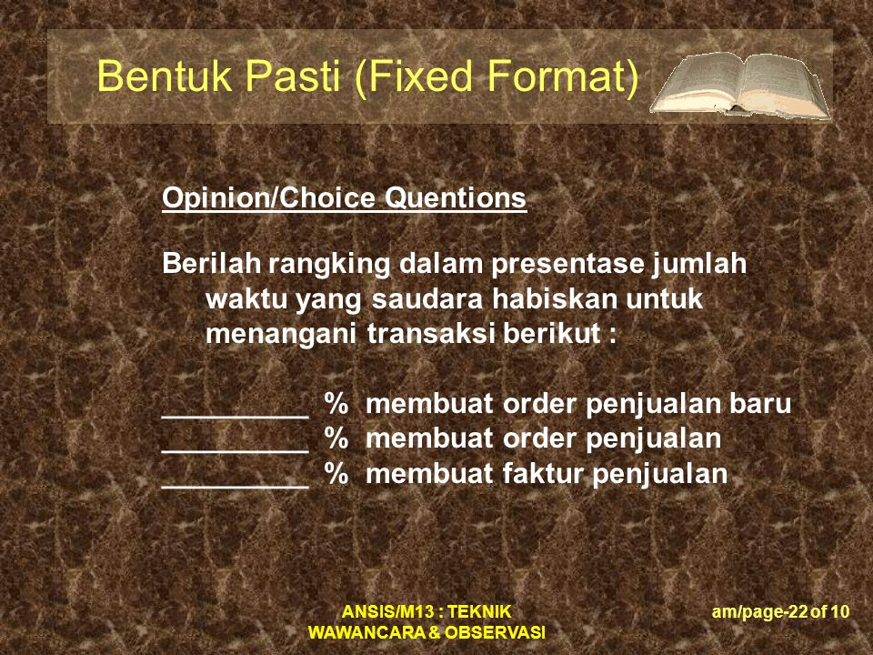 Bentuk Pasti (Fixed Format)