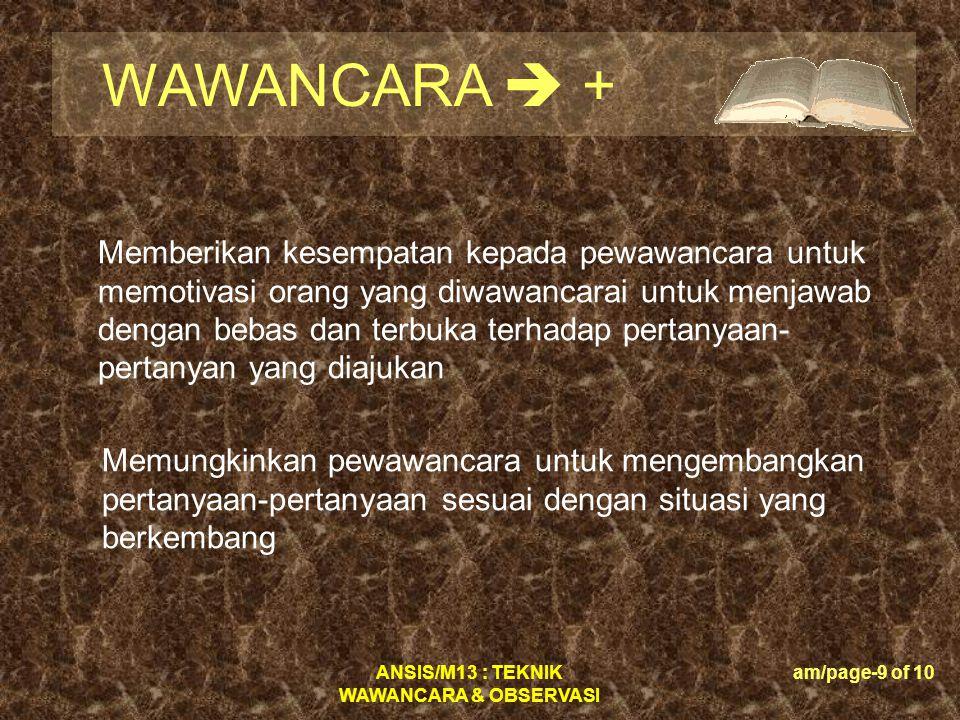 WAWANCARA  +