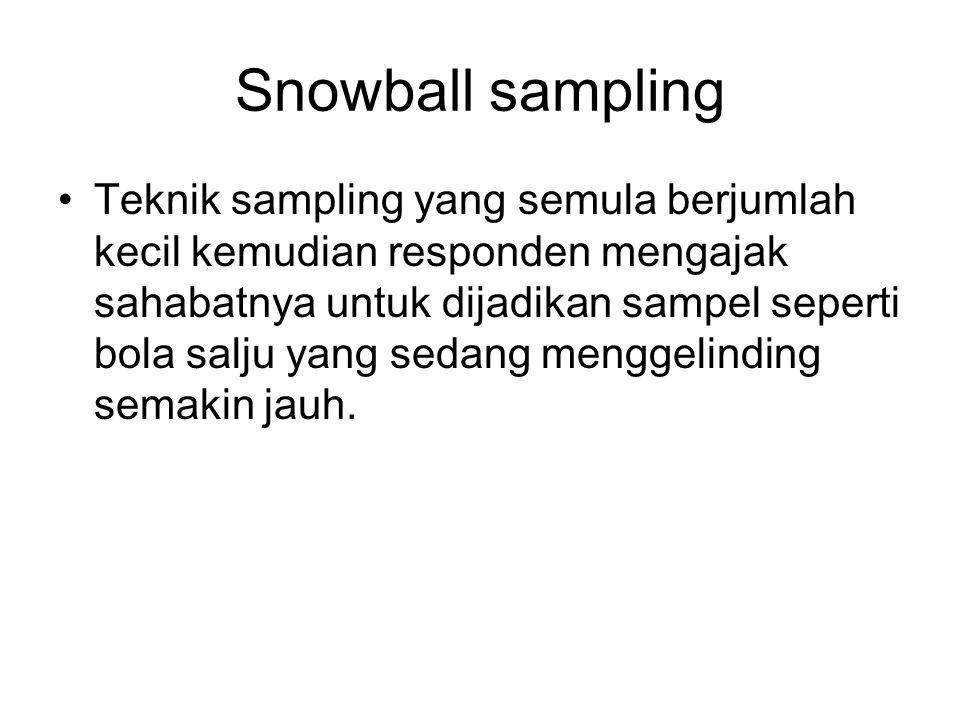 Snowball sampling
