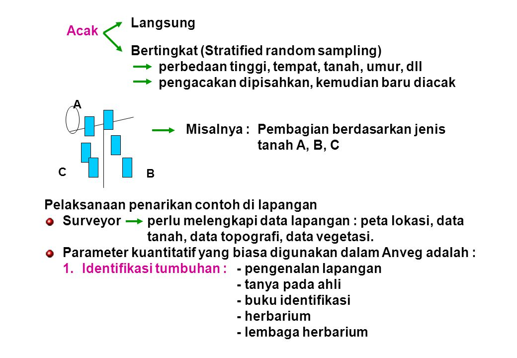 Bertingkat (Stratified random sampling)