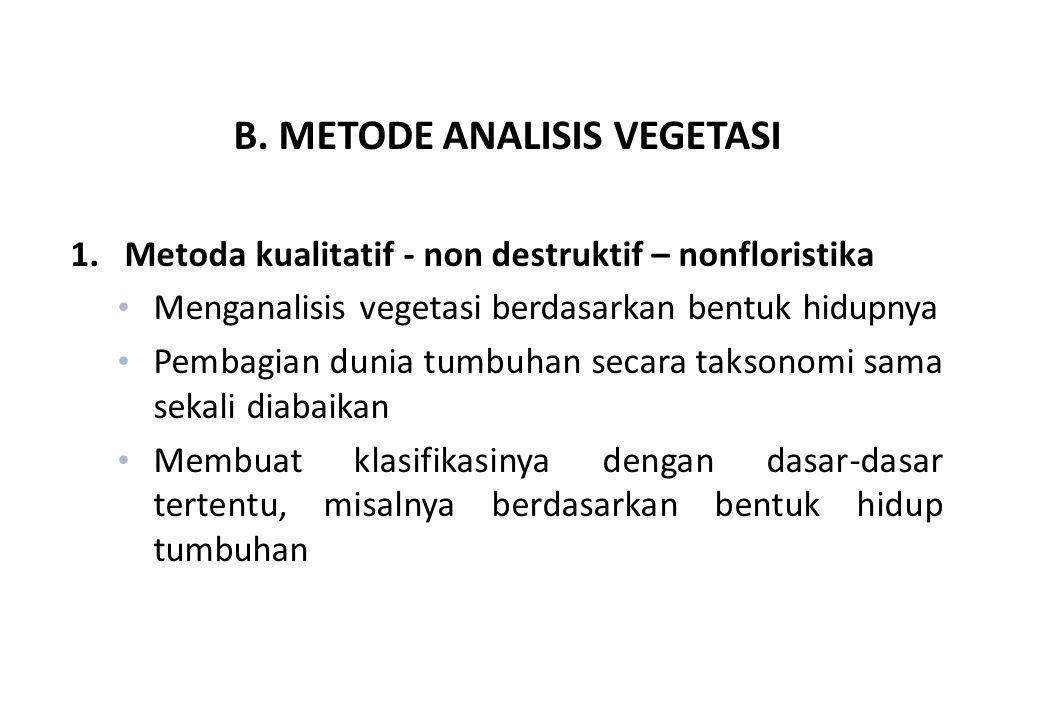B. METODE ANALISIS VEGETASI