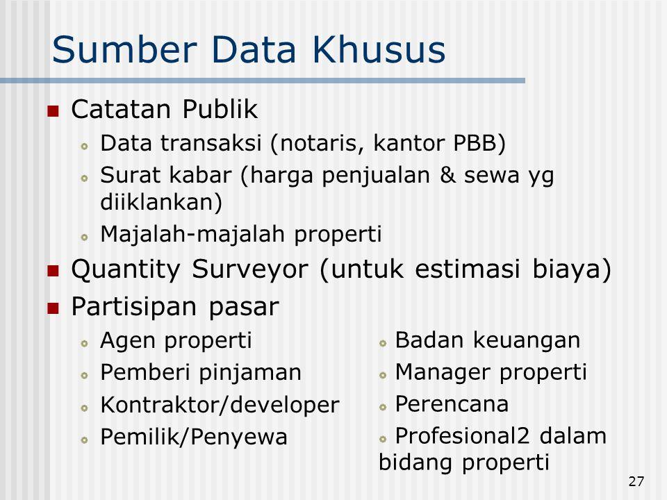 Sumber Data Khusus Catatan Publik